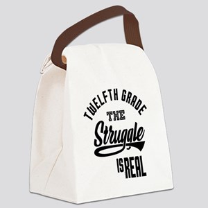 Twelfth Grade The Struggle - 70 Canvas Lunch Bag